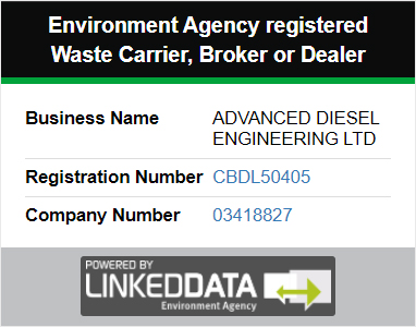 Environment Agency registered Waste Carrier, Broker or Dealer