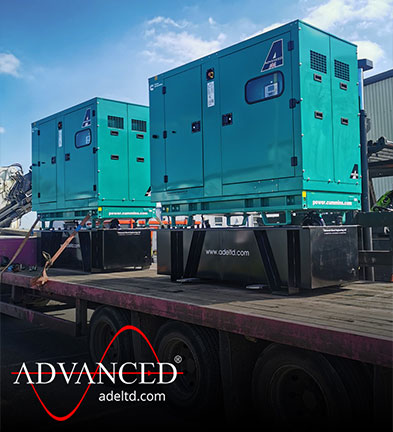 2 x Cummins 66 kVA Silent Stage IIIa Emissions Compliant Diesel Generators with Extended Base Fuel Tanks & Automatic Transfer Panels