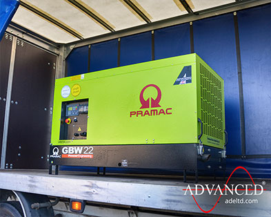 14kVA Single Phase Pramac Perkins Diesel Generator for a remote farmhouse in the UK