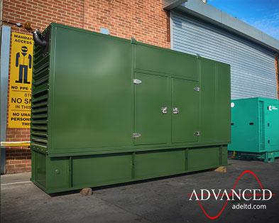 Bespoke Built Super-Silent Acoustic Canopy housing a 40kVA Perkins Telecoms Diesel Generator