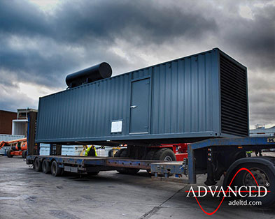 1250 kVA Perkins Diesel Generator packaged in a 40ft Bespoke Acoustic Enclosure