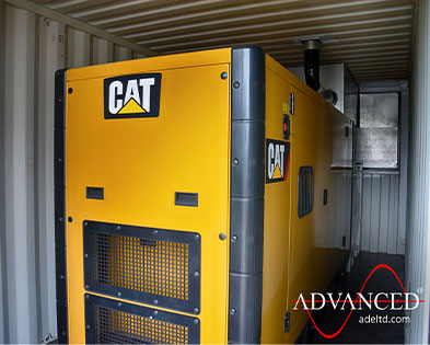 150kVA Caterpillar Packaged Diesel Generator Solution for a mobile MRI scanning unit