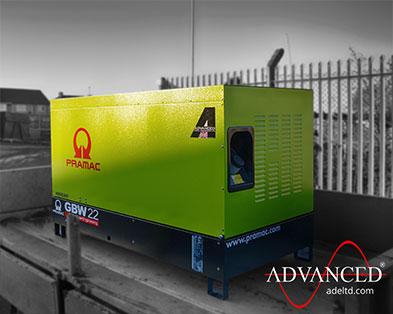 Weed Power Pramac Perkins GBW22 22kVA Silent Diesel Generator