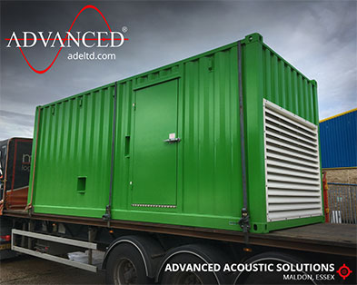 Bespoke 20-foot Acoustic Container for testing generators up to 800kVA