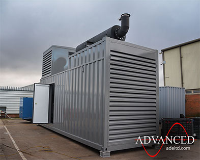 1675 kVA Cummins Acoustically Packaged Diesel Generator Power Solution for a Data Centre in Madrid