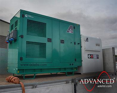 Bespoke 55kVA Cummins Diesel Generator & Fuel Tank for an A&E Department in Middlesbrough, UK