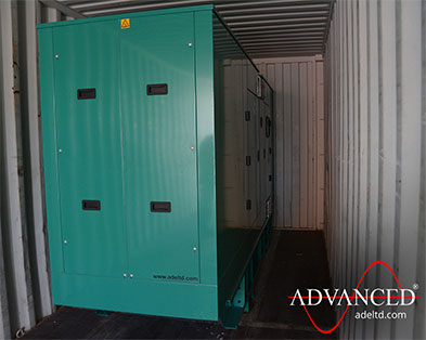 220kVA Cummins Diesel Generator for a hotel skyscraper's fire protection system in UAE