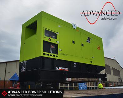 650 kVA Volvo Streaming Service Diesel Generator