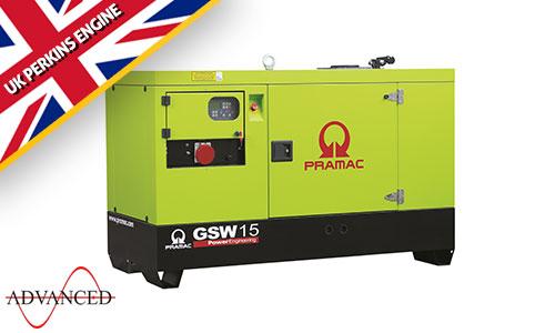 15 kVA Perkins Silent Diesel Generator - Pramac GSW15P