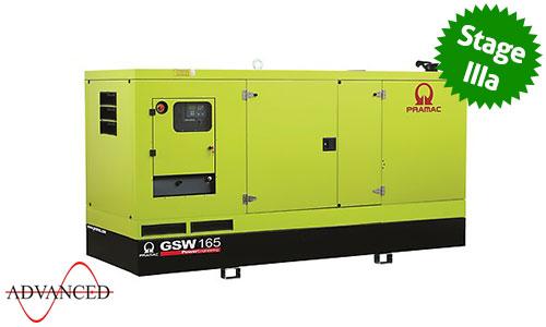 165 kVA Volvo Stage IIIa Silent Diesel Generator - Pramac GSW165V