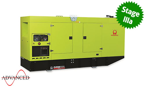 500 kVA Volvo Stage IIIa Silent Diesel Generator - Pramac GSW505V