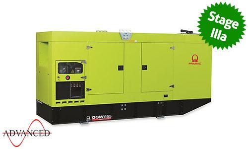 550 kVA Volvo Stage IIIa Silent Diesel Generator - Pramac GSW555V