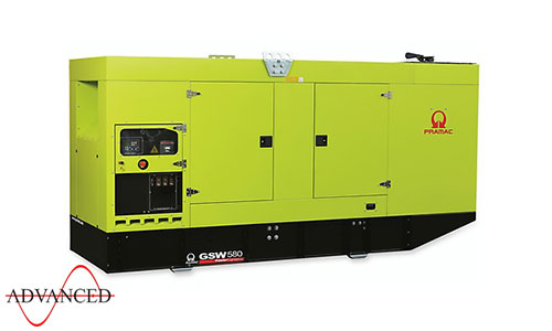 580 kVA Doosan Auto Start Silent Diesel Generator - Pramac GSW580DO