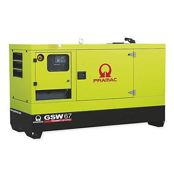67 kVA Perkins Stage IIIa Silent Diesel Generator - Pramac GSW67P