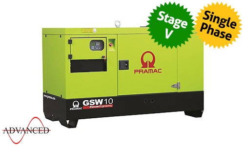 6 kVA Yanmar Single Phase Stage V Silent Diesel Generator - Pramac GSW10Y