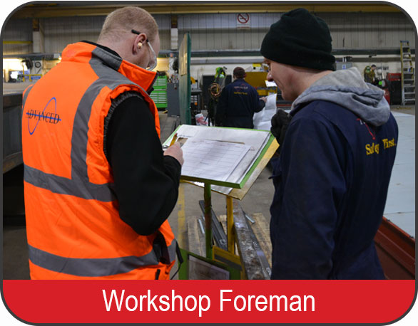 Workshop Foreman Vacancy