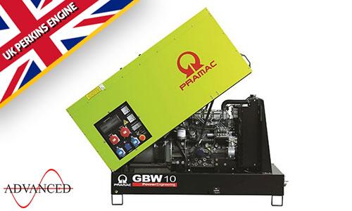 10 kVA Perkins Silent Diesel Generator - Pramac GBW10P Genset