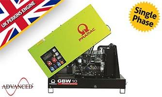 10 kVA Pramac Perkins Single Phase Diesel Generator - GBW10P Genset