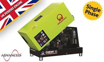10 kVA Perkins Single Phase Silent Diesel Generator - Pramac GBW15P Genset