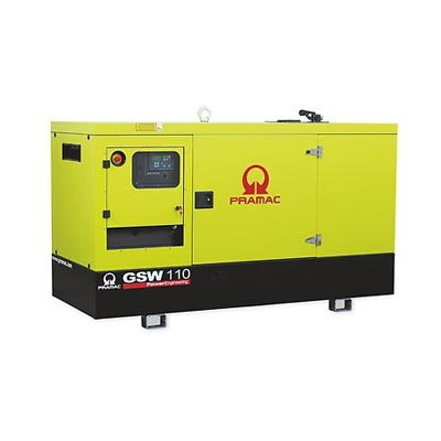 110 kVA Perkins Diesel Generator - Pramac GSW110 Genset