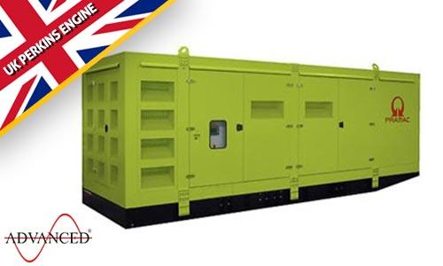 1650 kVA Pramac Perkins Silent Canopied Diesel Generator - Pramac GSW1650P