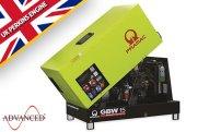 15 kVA Perkins Diesel Generator - Pramac GBW15 Key Start Genset