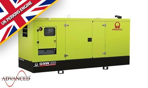 200 kVA Perkins Silent Diesel Generator - Pramac GSW200P Genset