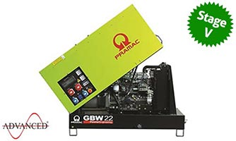 20 kVA Pramac Yanmar Stage V Emissions Compliant Auto Start Silent Diesel Generator - Pramac GBW22Y Auto Start Genset