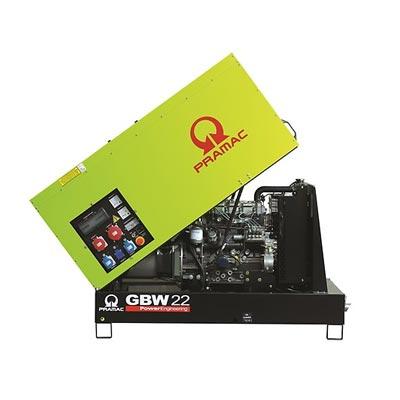 20 kVA Pramac Yanmar Stage V Emissions Compliant Silent Diesel Generator - Pramac GBW22Y Key Start Genset