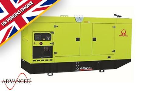 250 kVA Perkins Silent Diesel Generator - Pramac GSW250P Genset