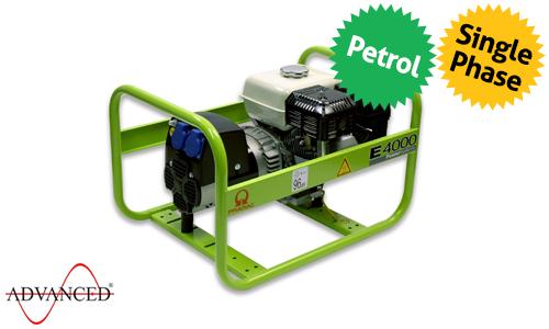 3.5 kVA Honda Portable Petrol Generator - Pramac E4000 Genset