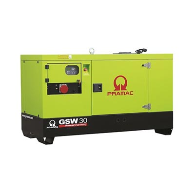 30 kVA Perkins Diesel Generator - Pramac GSW30 Key Start Genset