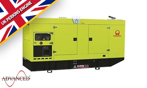 315 kVA Pramac Perkins Silent Diesel Generator - Pramac GSW315P
