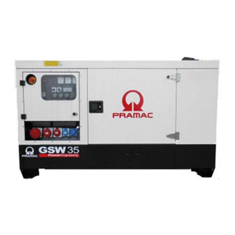 35 kVA Yanmar Rental Spec Silent Diesel Generator - Pramac GSW35Y Genset