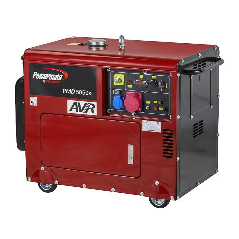 4.6 kVA Pramac Powermate PMD5000s Portable Diesel Generator