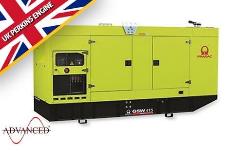 415kVA Perkins Silent Diesel Generator - Pramac GSW415P Genset