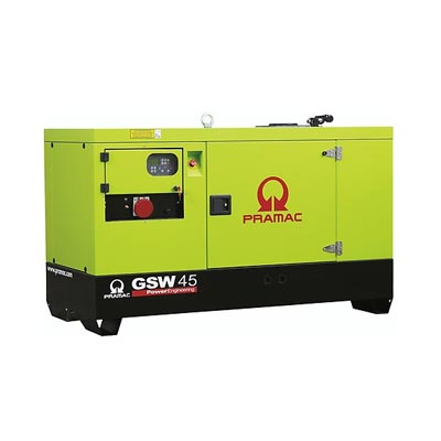 45 kVA Perkins Diesel Generator - Pramac GSW45 Key Start Genset