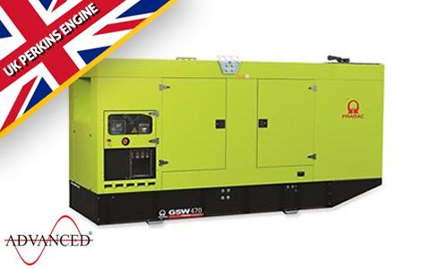 470kVA Perkins Silent Diesel Generator - Pramac GSW470P Genset