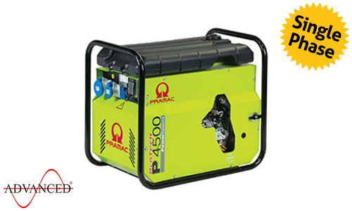 4 kVA Yanmar Portable Diesel Generator - Pramac P4500 Genset