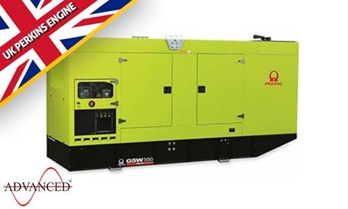 550 kVA Pramac Perkins Silent Diesel Generator - Pramac GSW550P