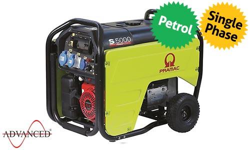 5 kVA Portable Honda Recoil Start Petrol Generator - Pramac S5000 Genset