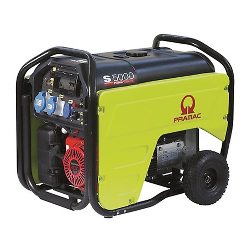 5 kVA Portable Honda Electric Start 230V Petrol Generator - Pramac S5000 230V Genset