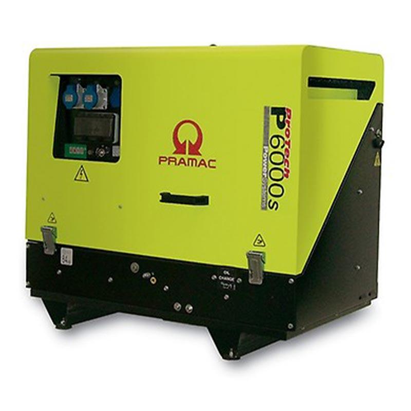 6 kVA Yanmar Portable Diesel Generator - Pramac P6000s 230V Only Genset