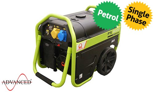 6 kVA Pramac Portable Petrol Generator - PX8000 Genset