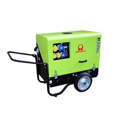 6 kVA Yanmar Portable Diesel Generator - Pramac P6000s Genset