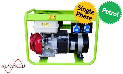 7 kVA Pramac Portable Petrol Generator - E6900 Genset