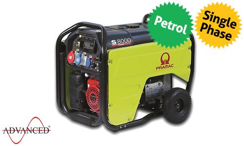 7 kVA Portable Honda Recoil Start Petrol Generator - Pramac S8000 Genset