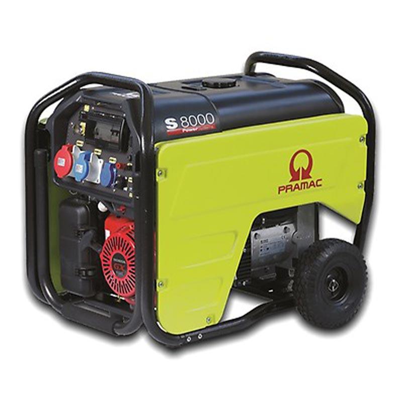 8 kVA Portable Honda 3 Phase Petrol Generator - Pramac S8000 3 Phase Genset