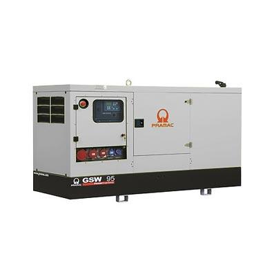 95 kVA Perkins Rental Spec Silent Diesel Generator - Pramac GSW95P Genset