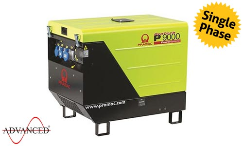 9 kVA Lombardini Single Phase Silent Diesel Generator - P9000 Genset